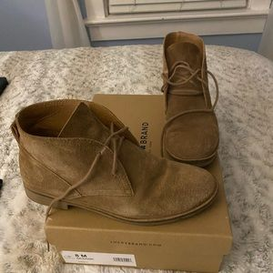 Lucky suede booties size 8 sesame color